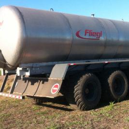 Fliegl Remolque Cisterna VFW 22.000 Litros Acero Inoxidable